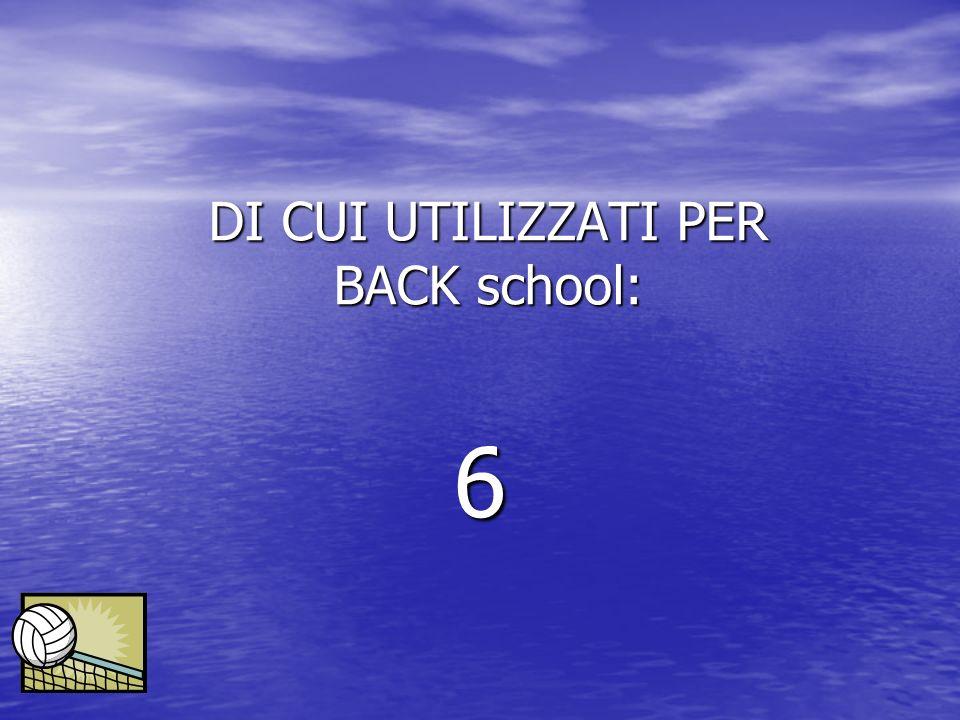 DI CUI UTILIZZATI PER BACK school: 6