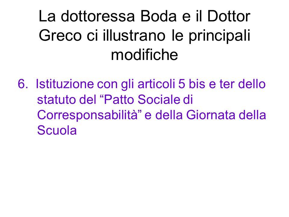 La dottoressa Boda e il Dottor Greco ci illustrano le principali modifiche 6.