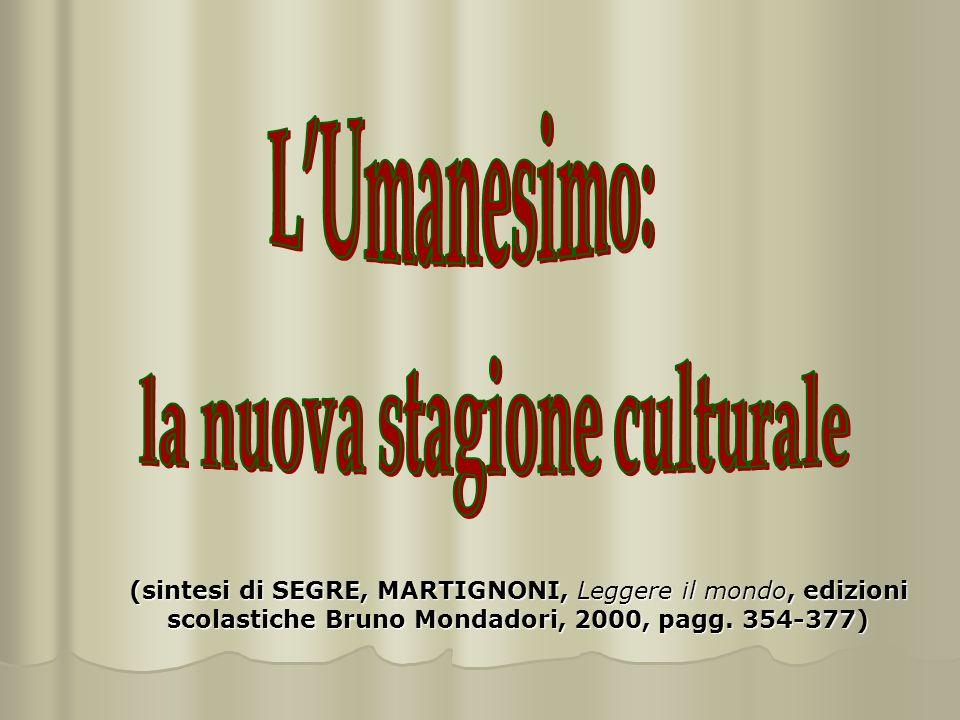 (sintesi di SEGRE, MARTIGNONI, Leggere il mondo, edizioni scolastiche Bruno Mondadori, 2000, pagg.