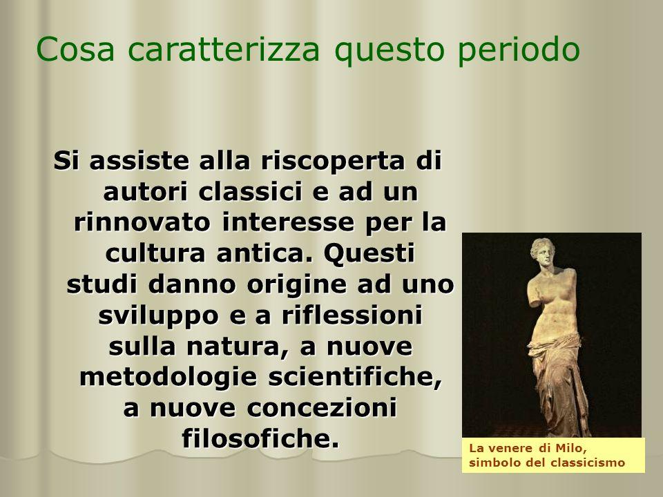 Si assiste alla riscoperta di autori classici e ad un rinnovato interesse per la cultura antica. Questi studi danno origine ad uno sviluppo e a rifles