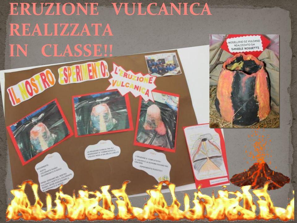 QUESTA E' LA NOSTRA ERUZIONE VULCANICA REALIZZATA IN CLASSE!!