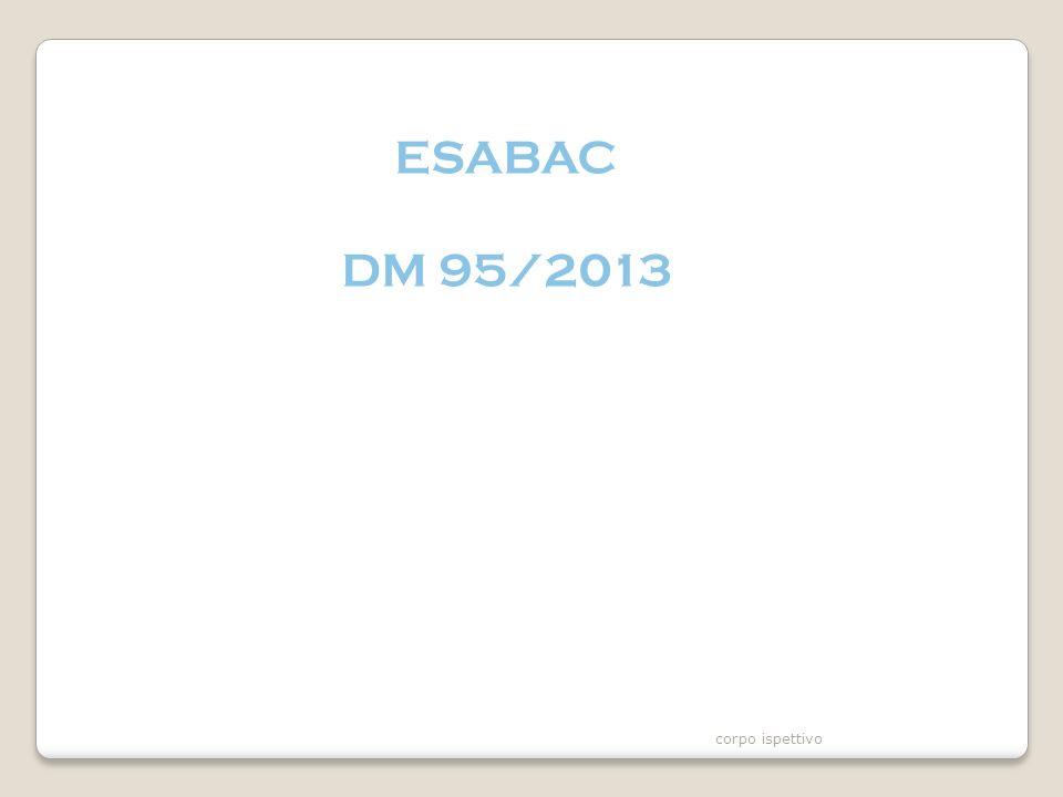 ESABAC DM 95/2013 corpo ispettivo