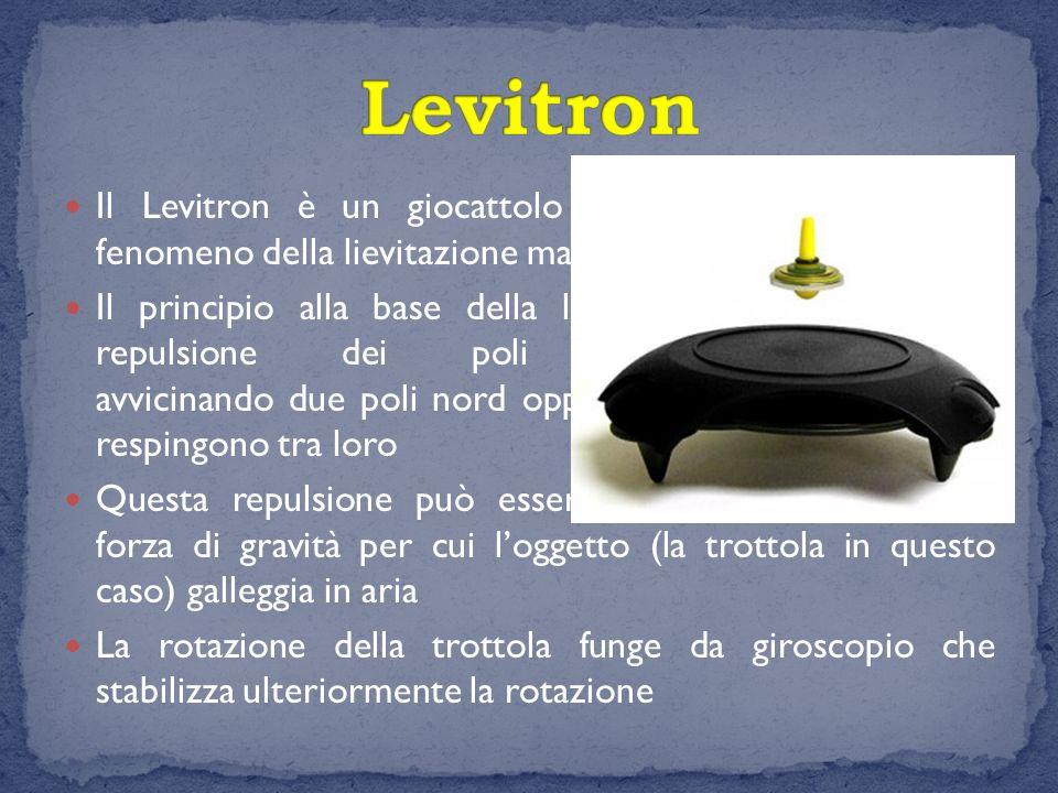 Il Levitron è un giocattolo scientifico che sfrutta il fenomeno della lievitazione magnetica Il principio alla base della levitazione magnetica è la r