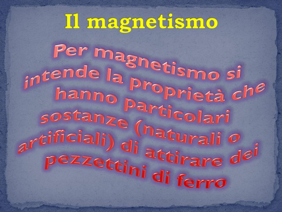 Un pezzo di materiale che è dotato di magnetismo si chiama magnete o calamita.