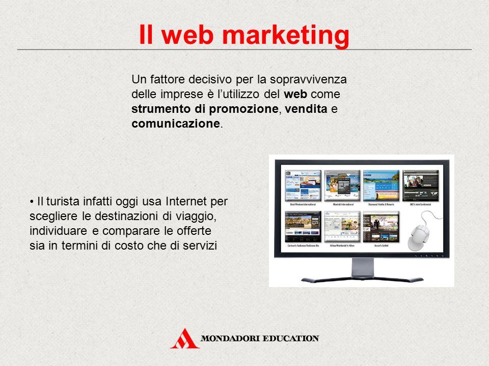 Un fattore decisivo per la sopravvivenza delle imprese è l'utilizzo del web come strumento di promozione, vendita e comunicazione. Il turista infatti