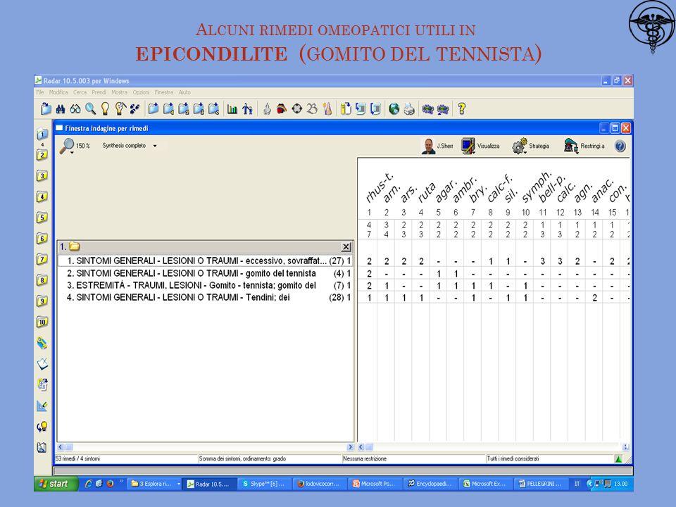 A LCUNI RIMEDI OMEOPATICI UTILI IN EPICONDILITE ( GOMITO DEL TENNISTA ) 17