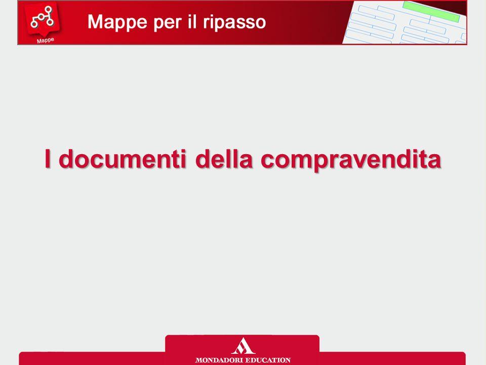 Mappe per il ripasso I documenti emessi nelle diverse fasi della compravendita Le trattative listino di vendita/lettera d'offerta richiesta di …………… …………… di acquisto …………… …………… La ………………..