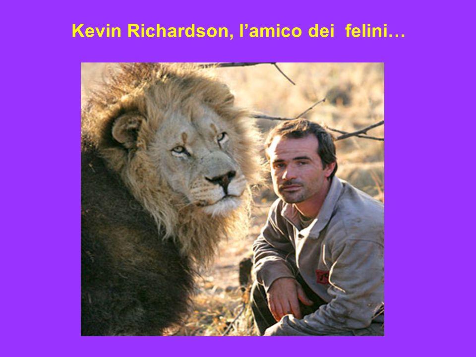 Kevin Richardson, l'amico dei felini…