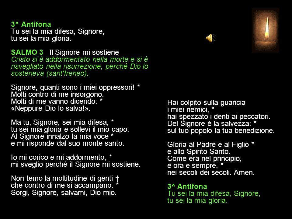 3^ Antifona Tu sei la mia difesa, Signore, tu sei la mia gloria.