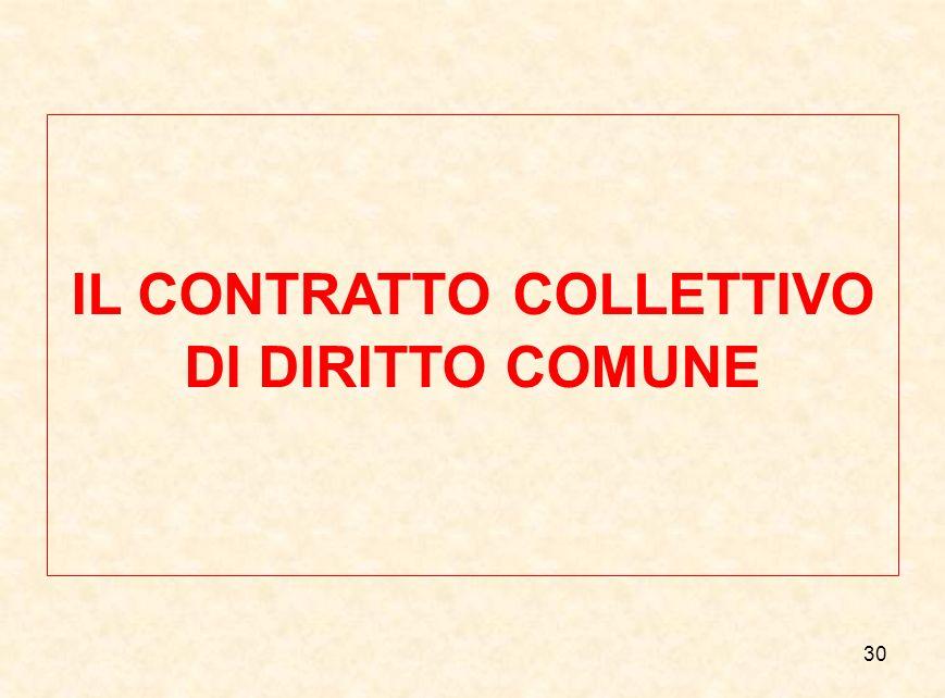 30 IL CONTRATTO COLLETTIVO DI DIRITTO COMUNE