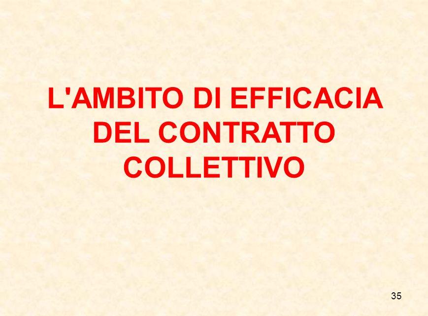 35 L'AMBITO DI EFFICACIA DEL CONTRATTO COLLETTIVO