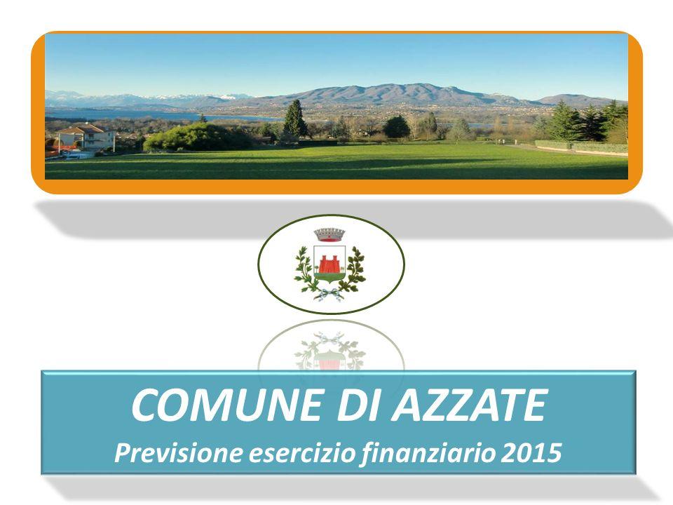 COMUNE DI AZZATE Previsione esercizio finanziario 2015