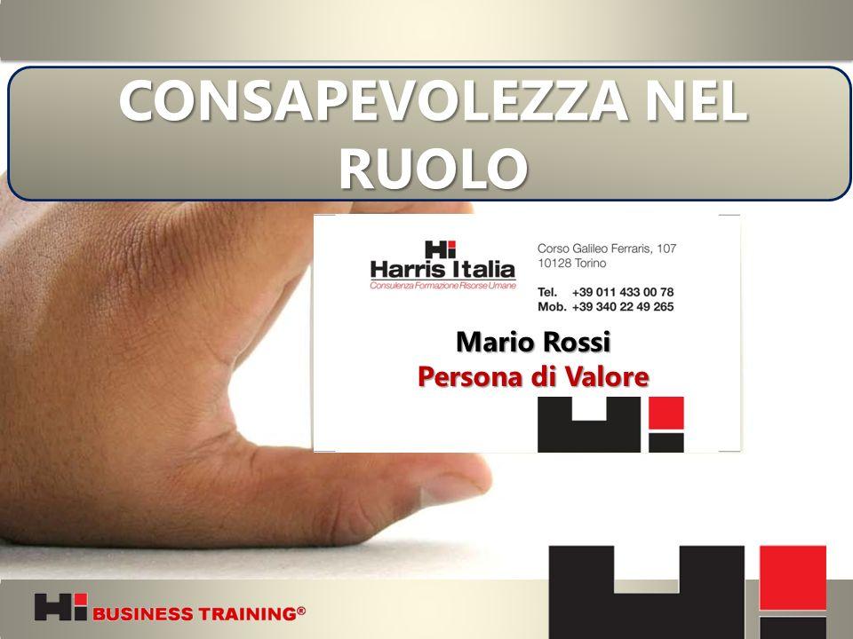 CONSAPEVOLEZZA NEL RUOLO Mario Rossi Persona di Valore