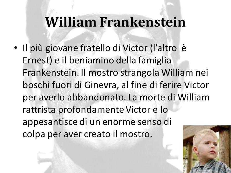 William Frankenstein Il più giovane fratello di Victor (l'altro è Ernest) e il beniamino della famiglia Frankenstein. Il mostro strangola William nei