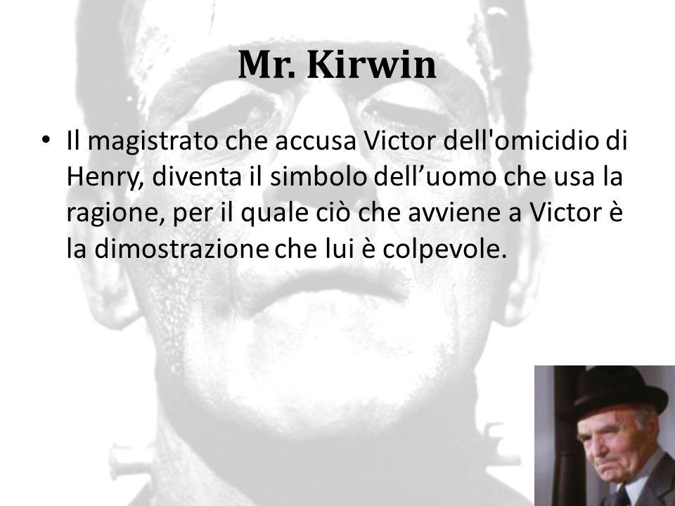 Mr. Kirwin Il magistrato che accusa Victor dell'omicidio di Henry, diventa il simbolo dell'uomo che usa la ragione, per il quale ciò che avviene a Vic