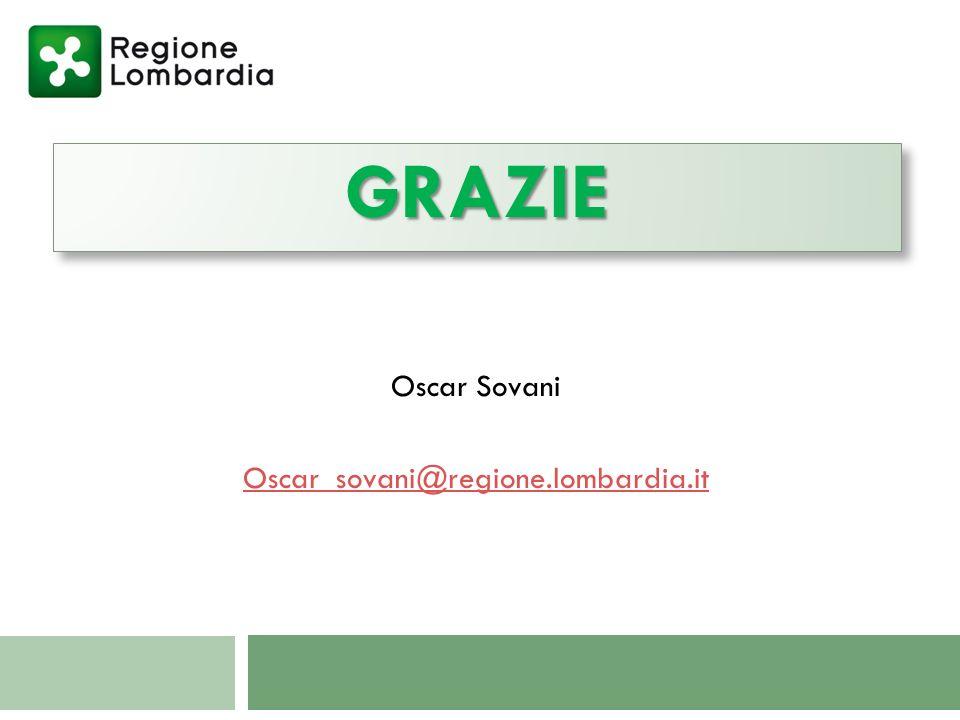 GRAZIEGRAZIE Oscar Sovani Oscar_sovani@regione.lombardia.it