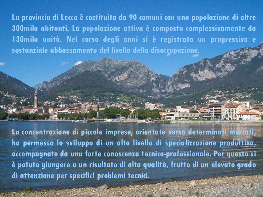La provincia di Lecco è costituita da 90 comuni con una popolazione di oltre 300mila abitanti.