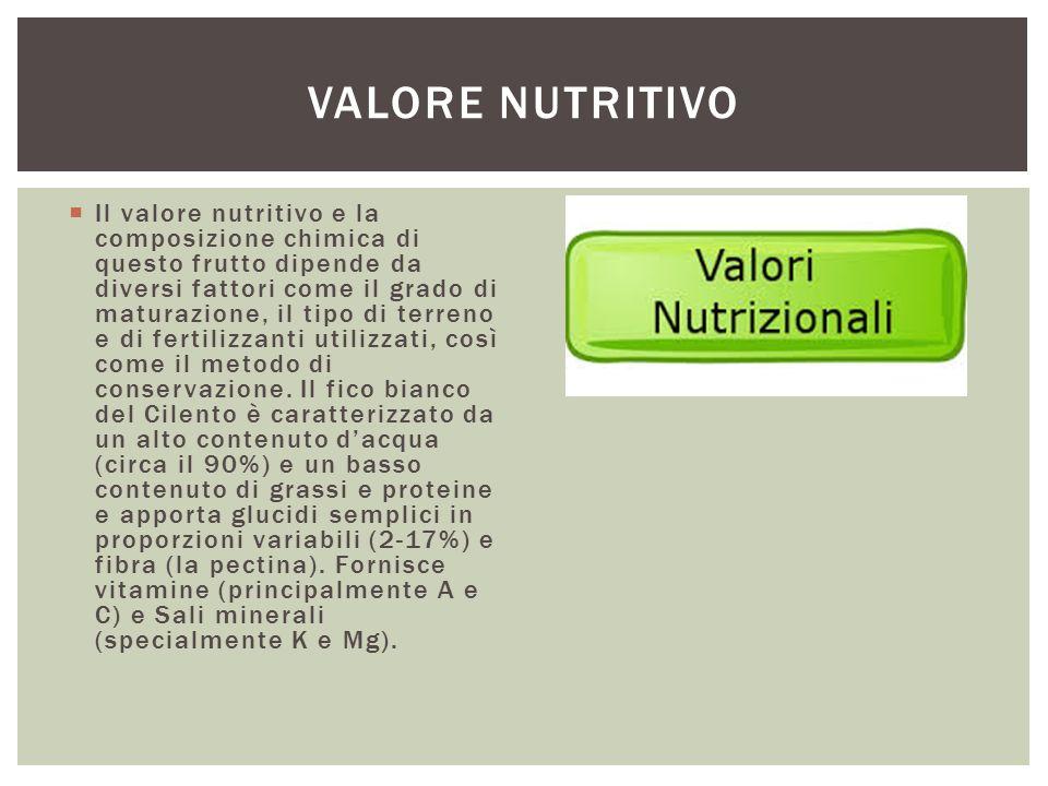  Il valore nutritivo e la composizione chimica di questo frutto dipende da diversi fattori come il grado di maturazione, il tipo di terreno e di fert