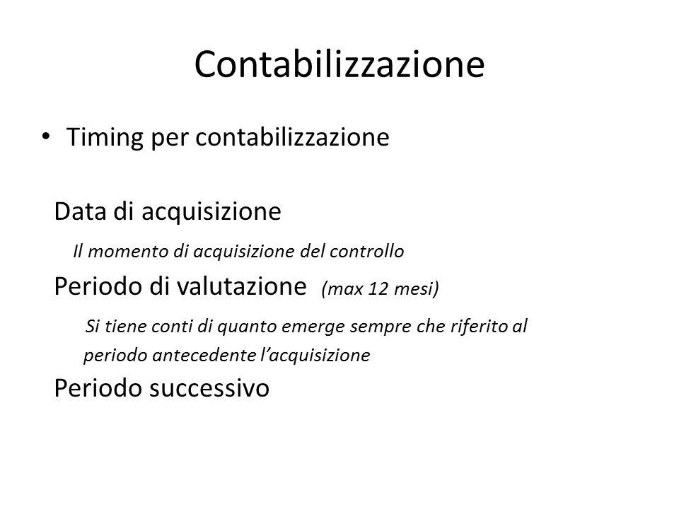 Contabilizzazione Timing per contabilizzazione Data di acquisizione Il momento di acquisizione del controllo Periodo di valutazione (max 12 mesi) Si t