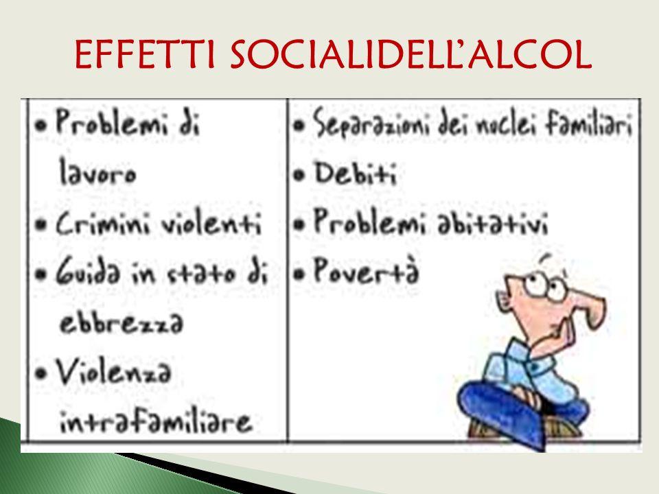 EFFETTI SOCIALIDELL'ALCOL