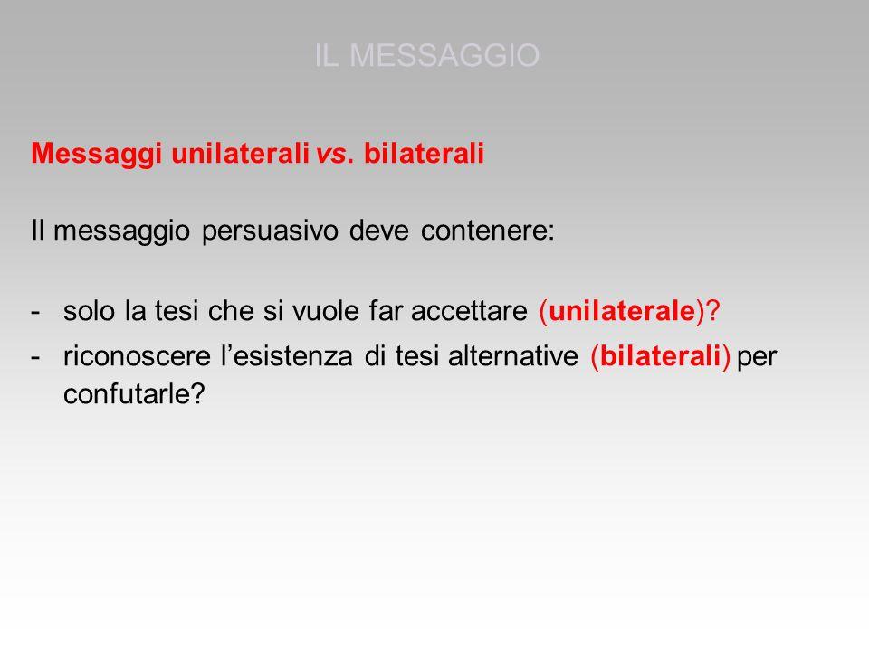 Messaggi unilaterali vs.