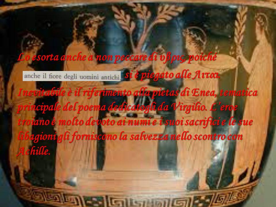 Fenice mette in guardia Achille dal pericolo che corre ignorando le Λιται e tenta di persuaderlo a non rendere vane le parole degli ambasciatori, sold