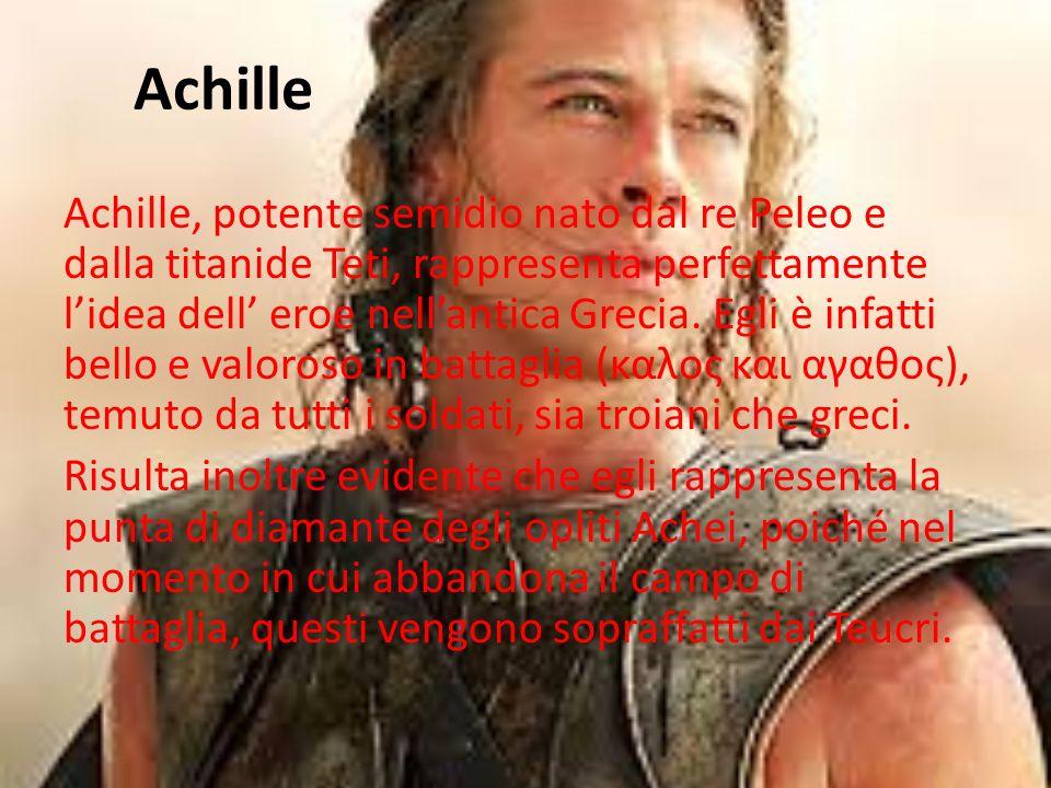Siamo nel libro IX dell'Iliade dove, dal verso 432 al verso 552, Omero presenta la scena del dialogo tra Fenice e Achille. Il valoroso guerriero aveva