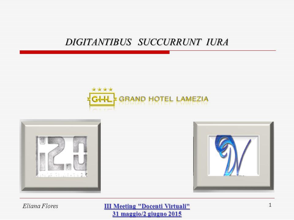 Eliana Flores III Meeting Docenti Virtuali 31 maggio/2 giugno 2015 32 DIGITANTIBUS SUCCURRUNT IURA 3 – disposizione del proprio patrimonio digitale (autonomia contrattuale) esempio – GOOGLE Nel 2013 ha attivato un servizio denominato «Gestione account inattivo».