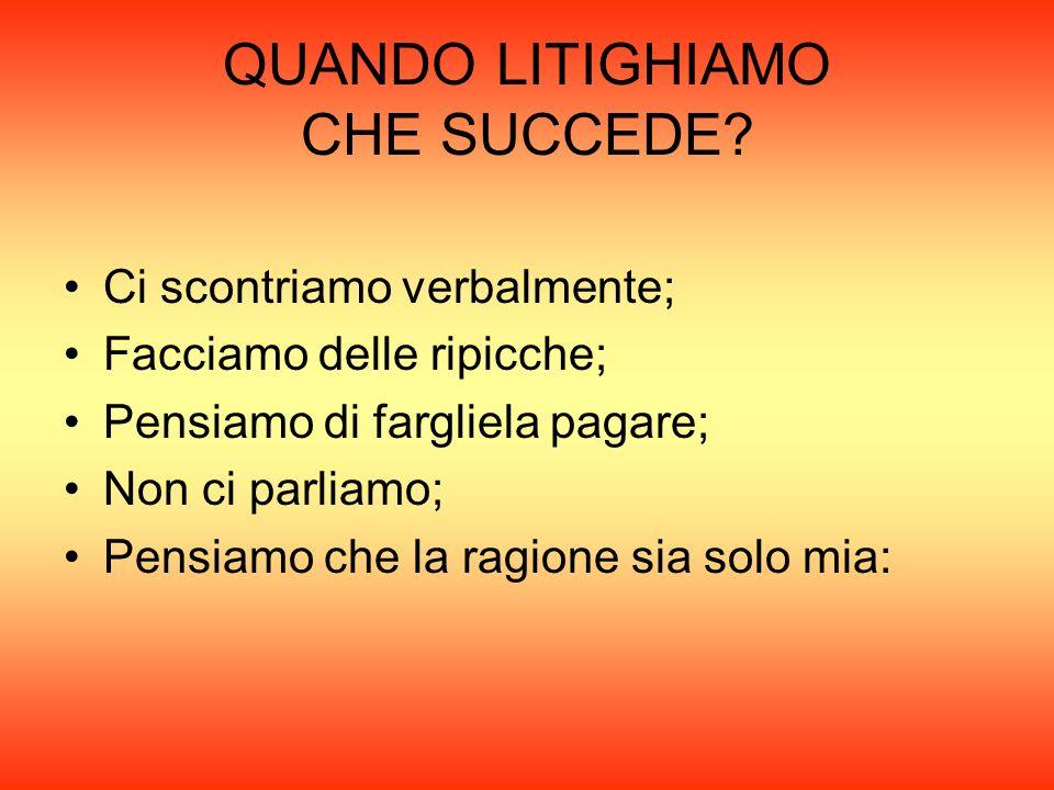 QUANDO LITIGHIAMO CHE SUCCEDE.