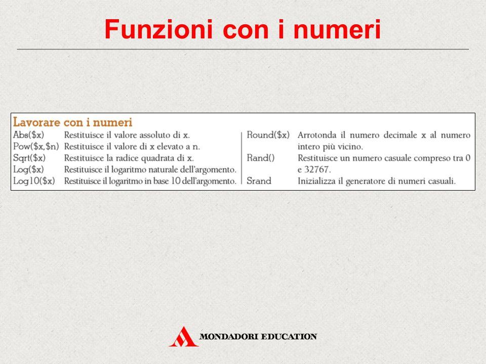 Funzioni con i numeri