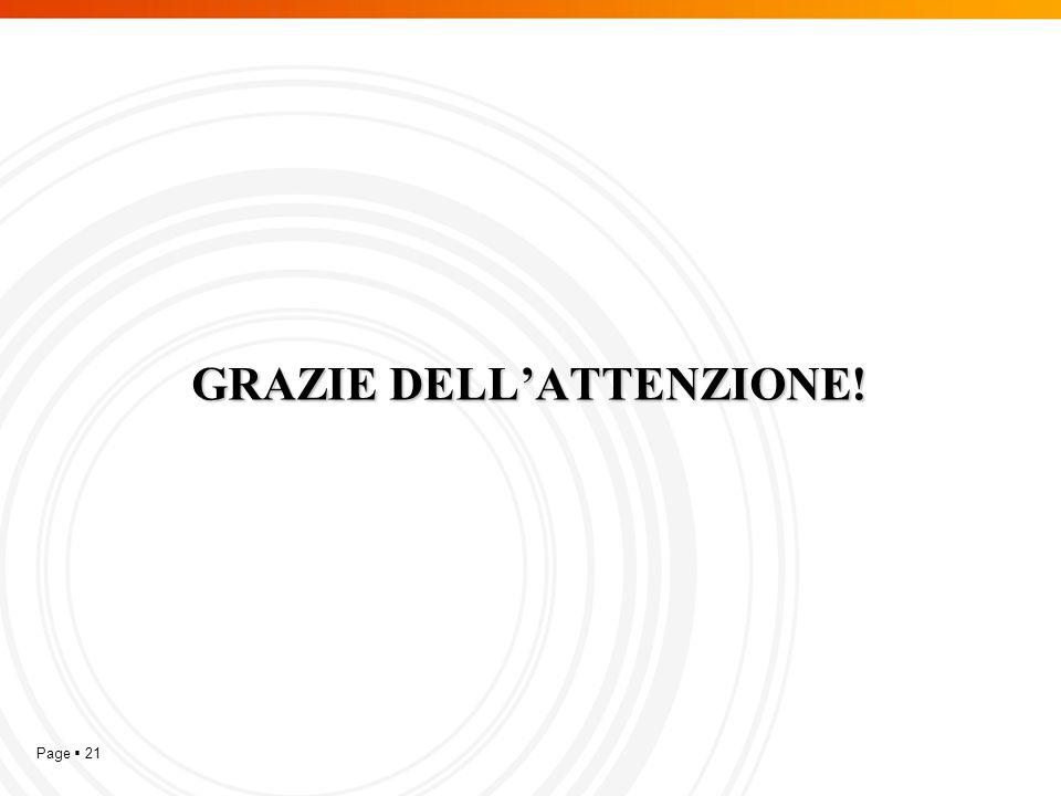 Page  21 GRAZIE DELL'ATTENZIONE!