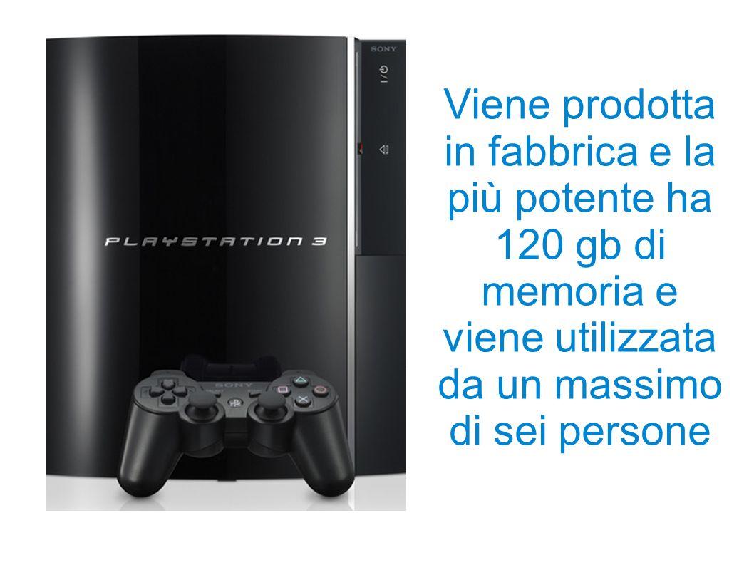 Xbox 360 Viene prodotta in fabbrica e la più potente ha 60 gb di memoria e viene utilizzata da un massimo di quattro persone.