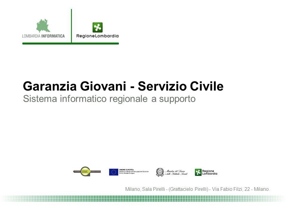 Garanzia Giovani - Servizio Civile Sistema informatico regionale a supporto Milano, Sala Pirelli - (Grattacielo Pirelli) - Via Fabio Filzi, 22 - Milano.