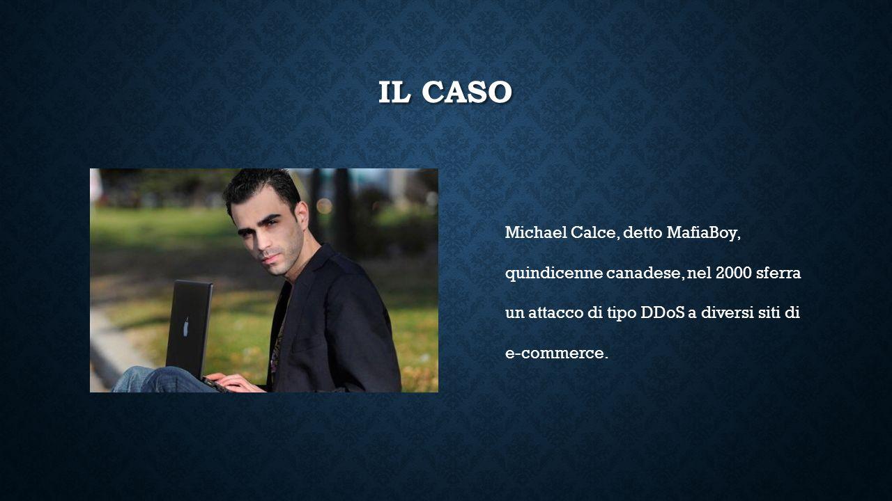 IL CASO Michael Calce, detto MafiaBoy, quindicenne canadese, nel 2000 sferra un attacco di tipo DDoS a diversi siti di e-commerce.