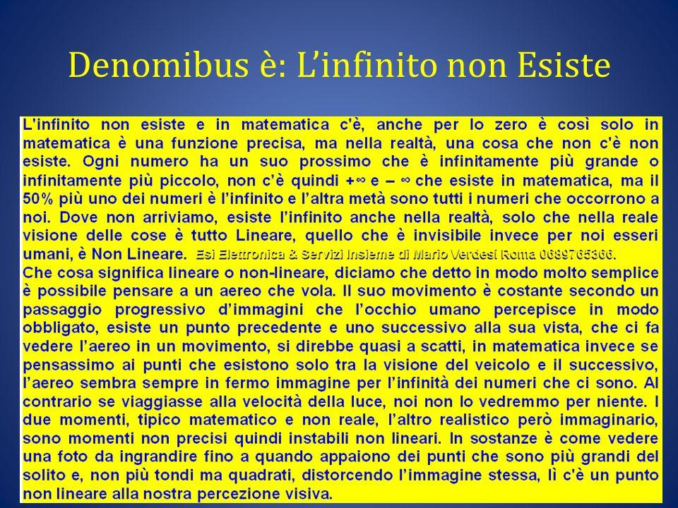 Denomibus è: L'infinito non Esiste