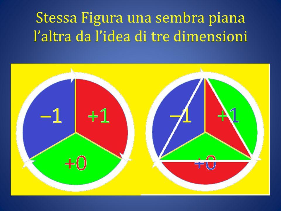 Stessa Figura una sembra piana l'altra da l'idea di tre dimensioni