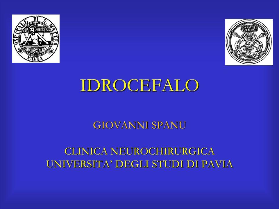 IDROCEFALO GIOVANNI SPANU CLINICA NEUROCHIRURGICA UNIVERSITA' DEGLI STUDI DI PAVIA