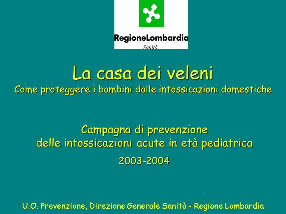 La casa dei veleni Come proteggere i bambini dalle intossicazioni domestiche U.O. Prevenzione, Direzione Generale Sanità - Regione Lombardia Campagna