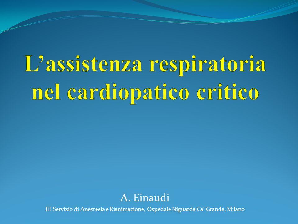 A. Einaudi III Servizio di Anestesia e Rianimazione, Ospedale Niguarda Ca' Granda, Milano