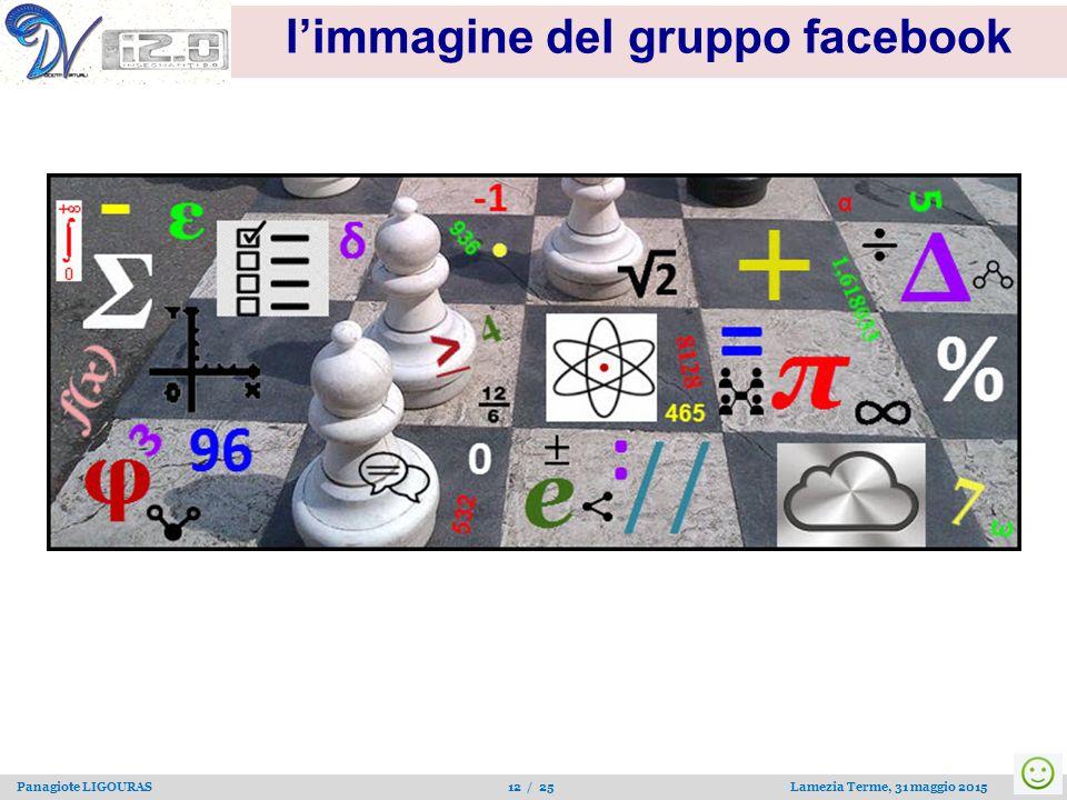 Panagiote LIGOURAS 12 / 25 Lamezia Terme, 31 maggio 2015 l'immagine del gruppo facebook
