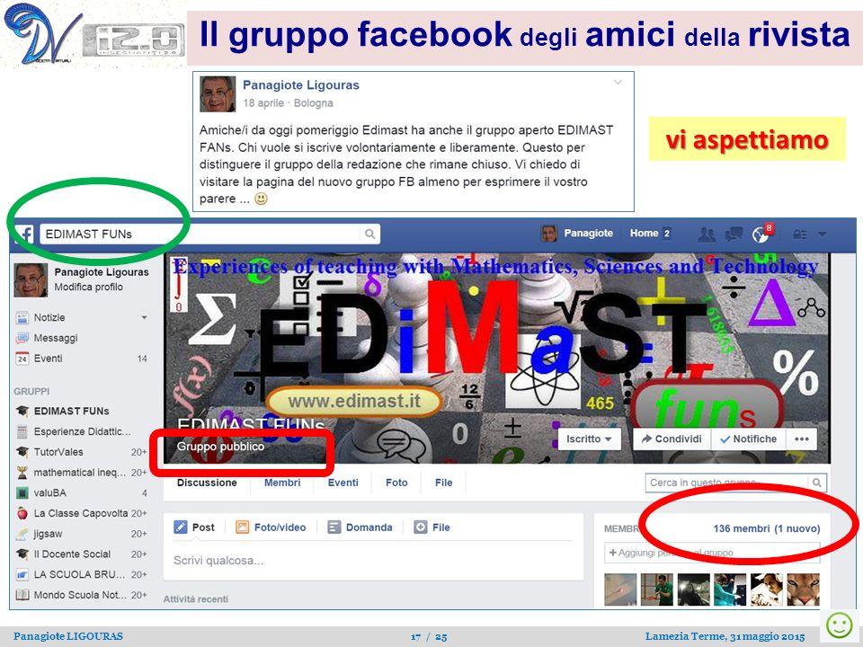 Panagiote LIGOURAS 17 / 25 Lamezia Terme, 31 maggio 2015 Il gruppo facebook degli amici della rivista vi aspettiamo