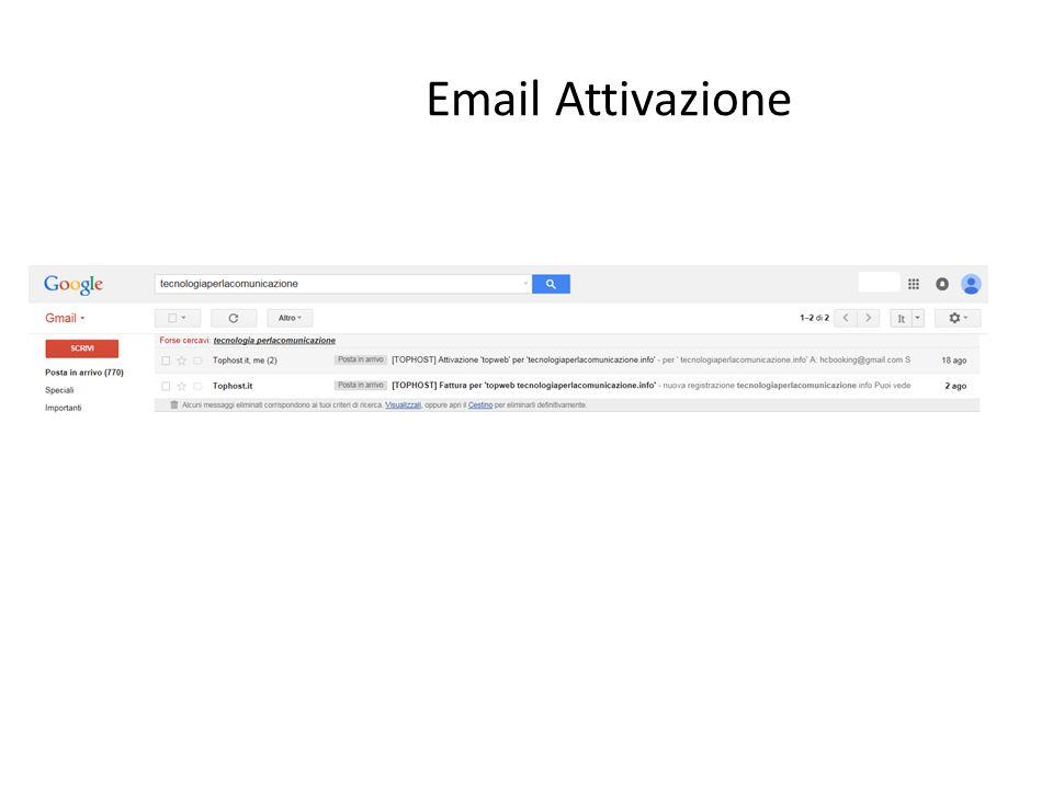 Email Attivazione