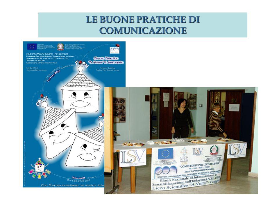 Articoli, foto, documentazione LE BUONE PRATICHE DI COMUNICAZIONE