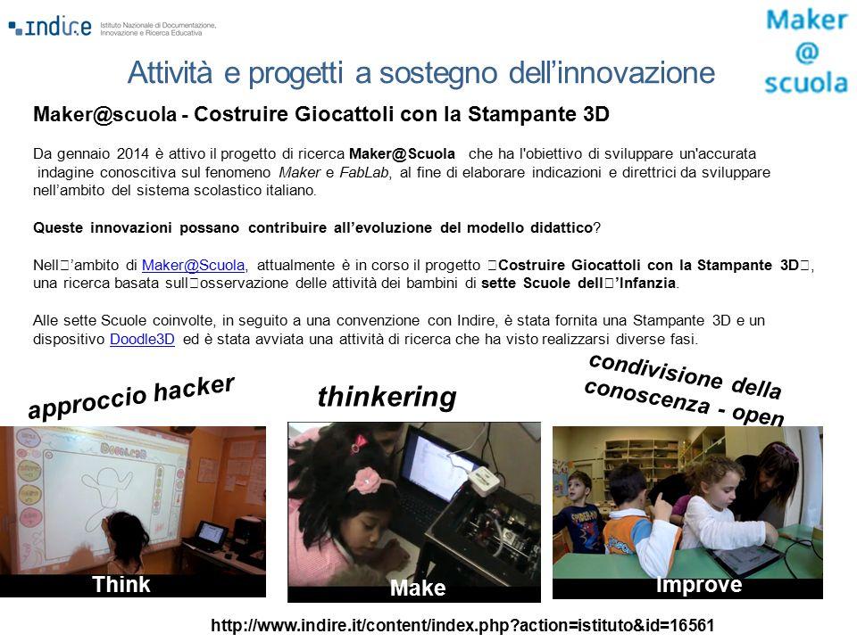 Maker@scuola - Costruire Giocattoli con la Stampante 3D Da gennaio 2014 è attivo il progetto di ricerca Maker@Scuola che ha l'obiettivo di sviluppare