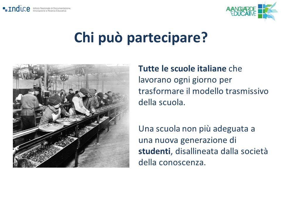 Tutte le scuole italiane che lavorano ogni giorno per trasformare il modello trasmissivo della scuola. Una scuola non più adeguata a una nuova generaz