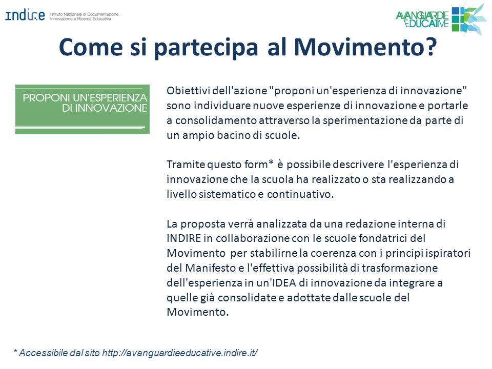 Come si partecipa al Movimento? Obiettivi dell'azione