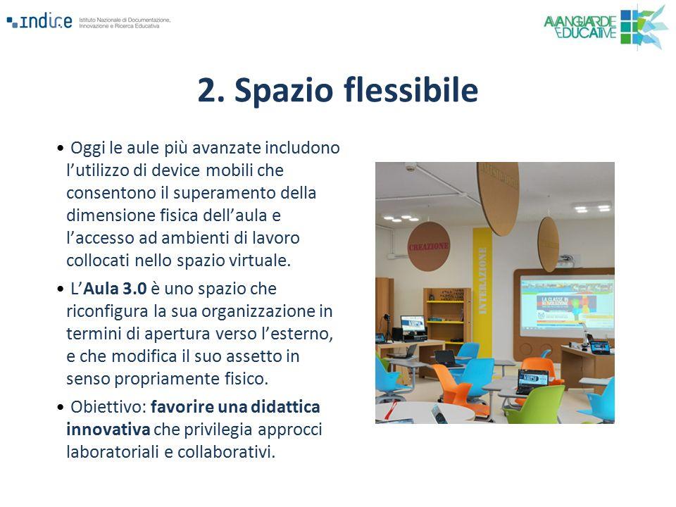 Oggi le aule più avanzate includono l'utilizzo di device mobili che consentono il superamento della dimensione fisica dell'aula e l'accesso ad ambient