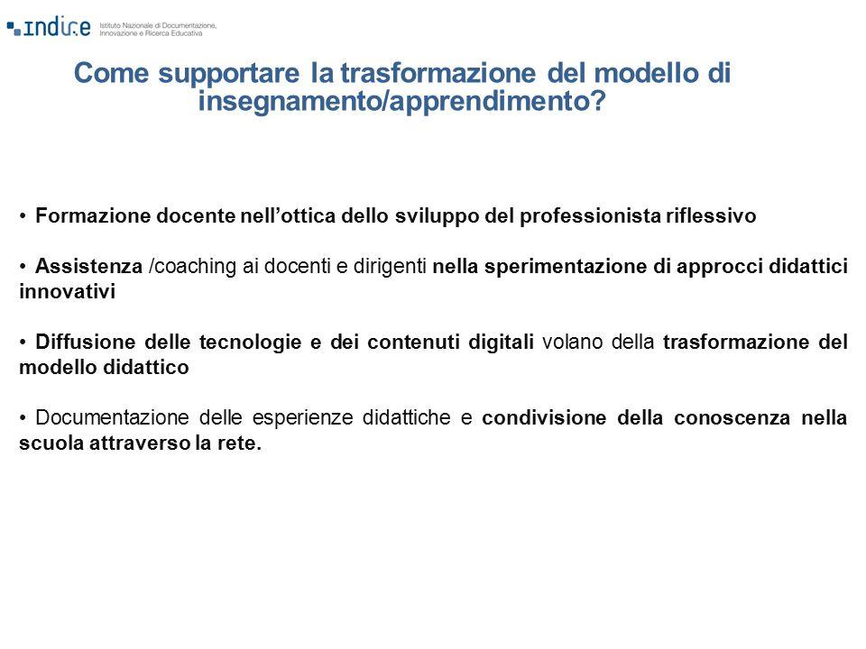 Come supportare la trasformazione del modello di insegnamento/apprendimento? Formazione docente nell'ottica dello sviluppo del professionista riflessi