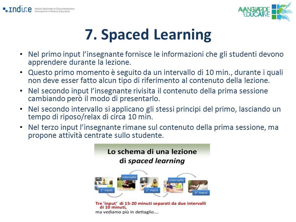 Nel primo input l'insegnante fornisce le informazioni che gli studenti devono apprendere durante la lezione. Questo primo momento è seguito da un inte