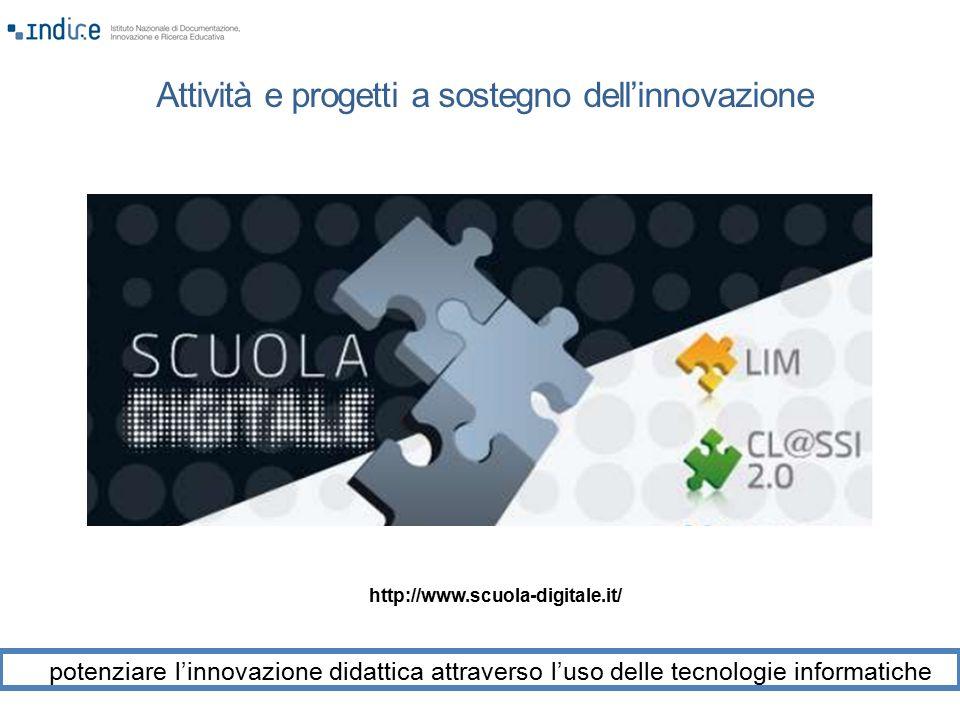 Attività e progetti a sostegno dell'innovazione potenziare l'innovazione didattica attraverso l'uso delle tecnologie informatiche http://www.scuola-di